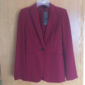 Women's Red blazer.